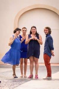 dress code bleu, mariage dans la clape
